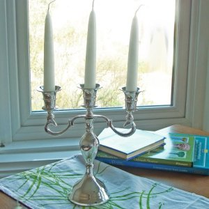 Silver and brass Candelabra