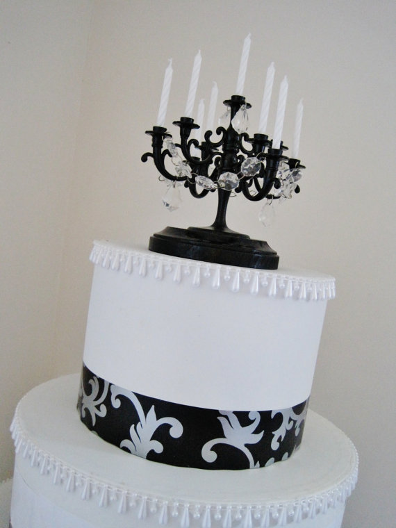 Wedding Cake Topper Candelabra