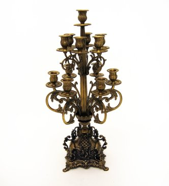 Antique Brass 13 Candle Candelabra