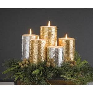 Elegant Embossed Candles