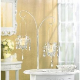 Mini Chandelier Hanging Metal Glass Candelabra