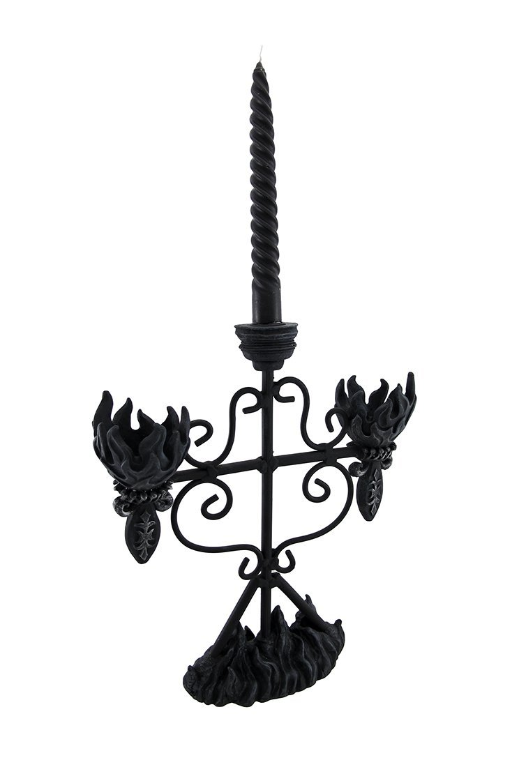 Wrought Iron Gothic Candelabra