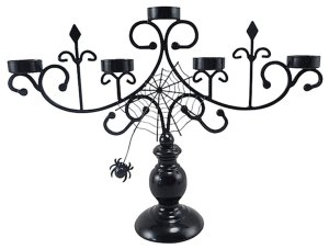 Halloween Spiderweb Candelabra BLACK