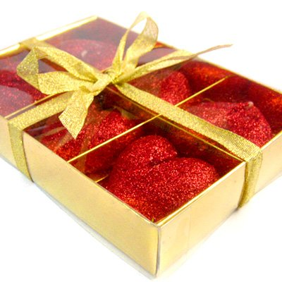6 Heart Wax Scented Candle Gift Box Wedding Favor Decoration Decor Valentine Red