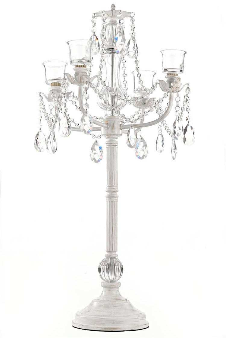 White Wedding Candelabra