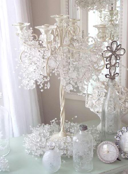 candelabra garland of crystals