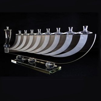 Modern Design Crystal Menorah