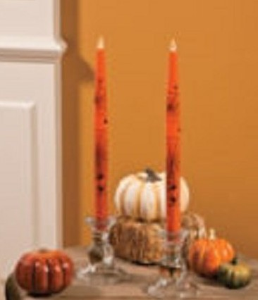 Halloween Flickering Taper Candles