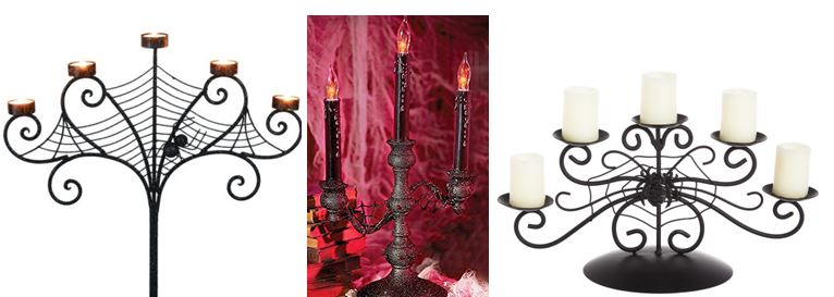 Collection of Halloween Candelabras
