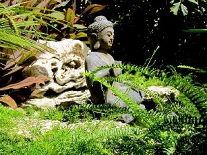 Namaste Buddha pond