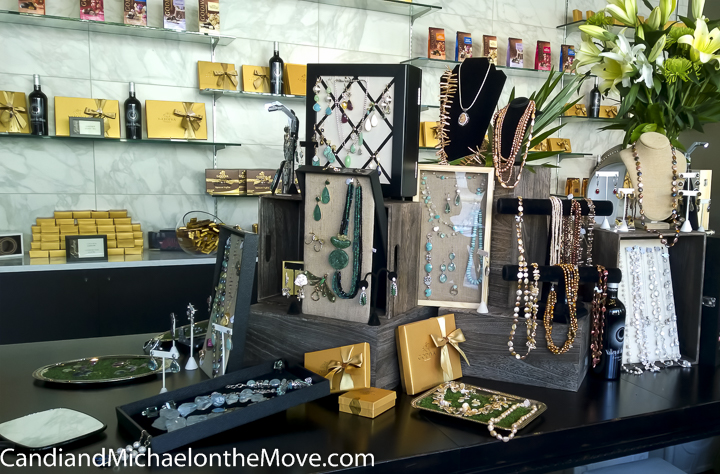 A sampling of Barb's beautiful jewelry from the trunk show