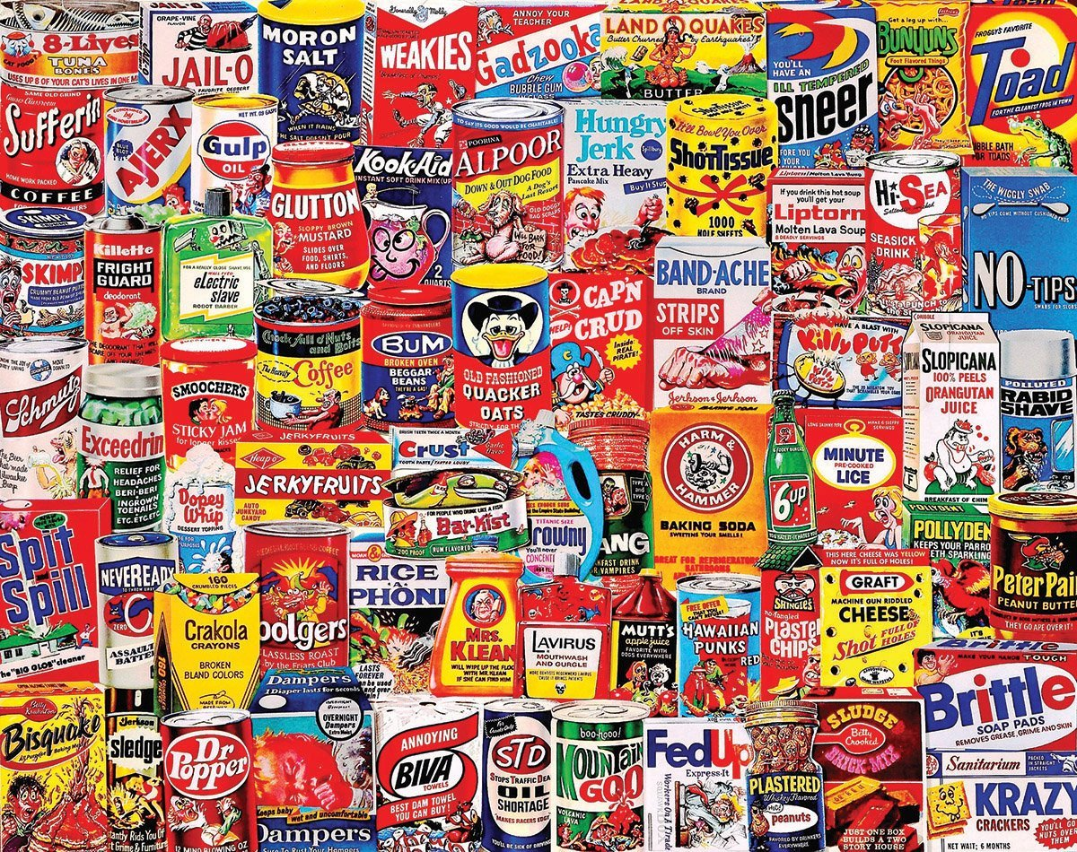 White Mountain Puzzles Wacky Packages