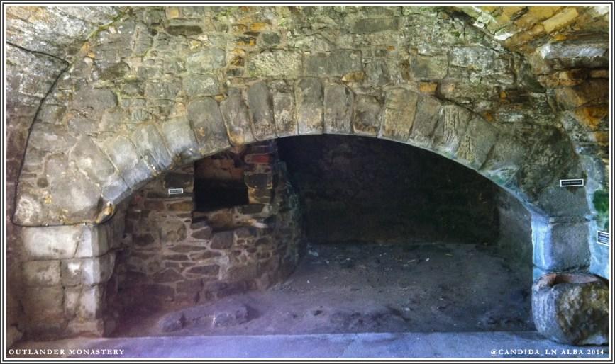 Aberdour Kitchen fireplace & oven.