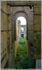 Empty corridor where once servants bustled.