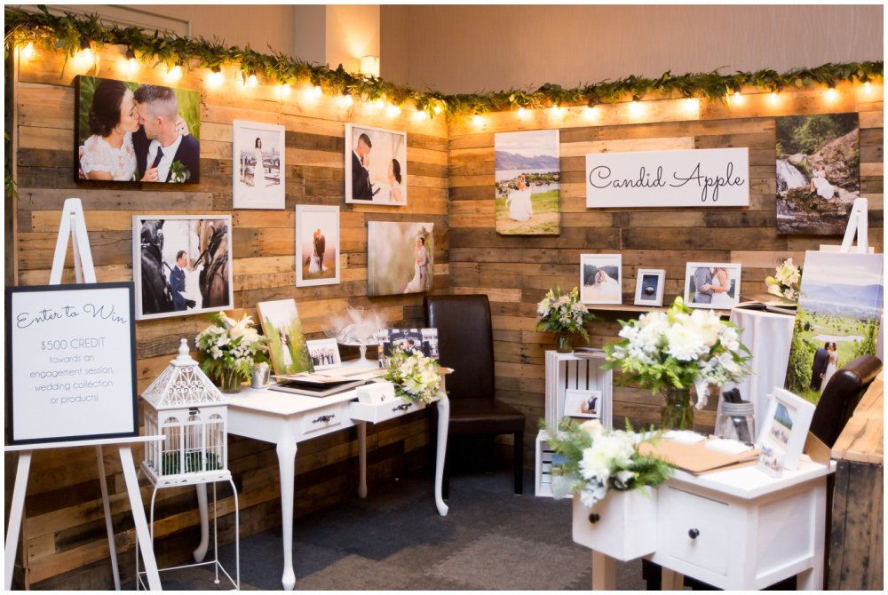 Bridal Expo Wedding Booth white with rustic details