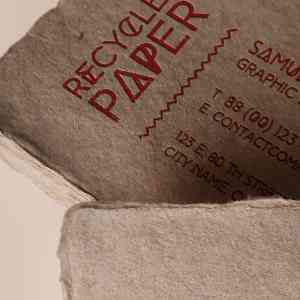 Recycled Paper Business Card