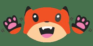 Excited fox emoji