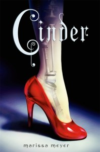 Book cover for Cinder by Marissa Meyer.