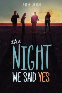Book cover for The Night We Said Yes by Lauren Gibaldi.