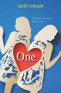 Book cover for One by Sarah Crossan.