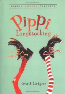 Book cover for Pippi Longstocking by Astrid Lindgren