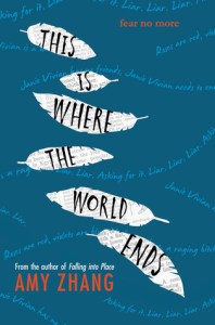 Book cover for This is Where the World Ends by Amy Zhang.