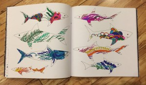 images of fish from the Lost Ocean colouring book
