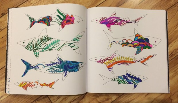 fish from the Lost Ocean coloring book