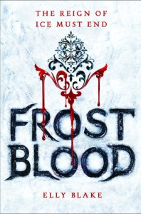 Book cove for Frostblood by Elly Blake
