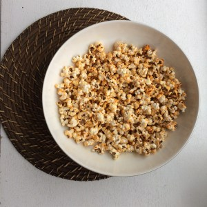 image of popcorn in a white bowl