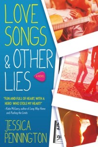 Book cover for Love Songs & Other Lies by Jessica Pennington.
