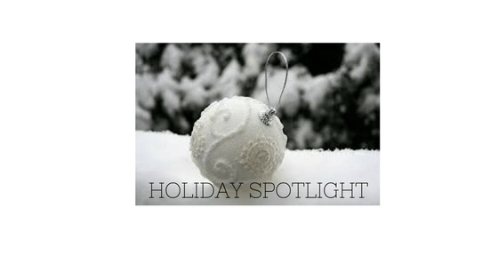 Holiday Spotlight Banner with ornament