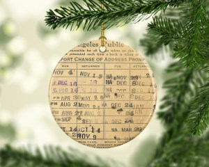 Library Card Ornament