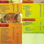 sincerity menu 2