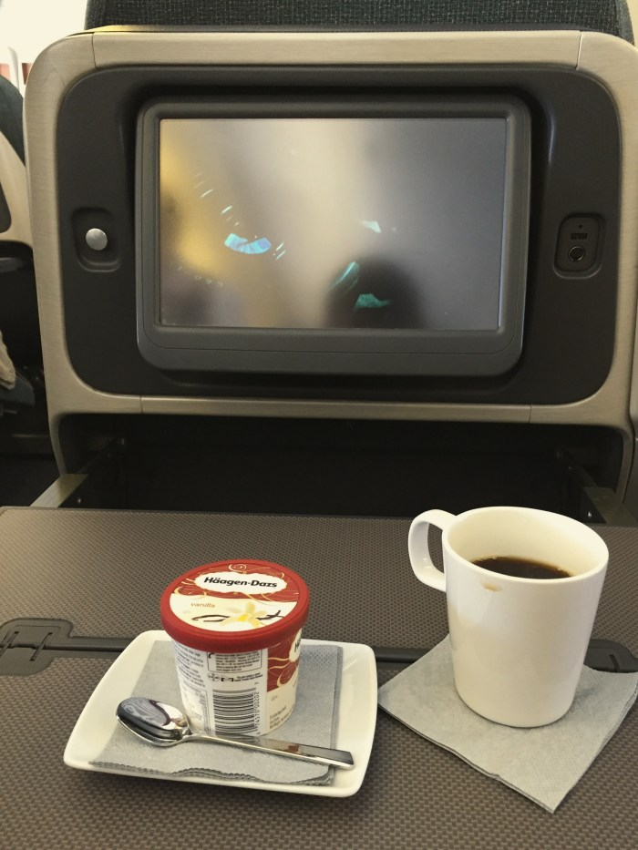 Cathay Pacific Business Class Inflight Meals menu