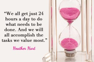 It's not a matter of time, it's a matter of values.