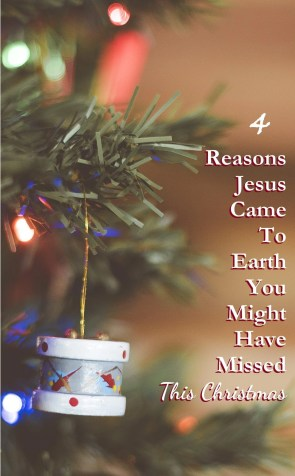 Don't let Christmas come and go without remembering why Jesus came.