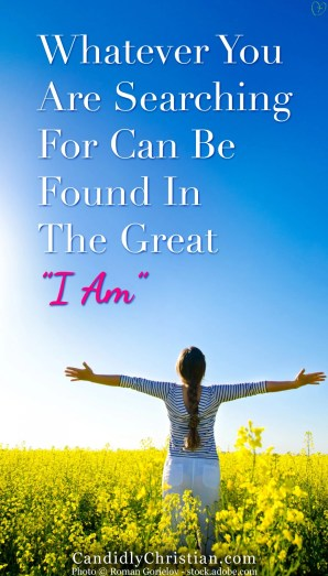 """Whatever You Are Searching For Can Be Found In The Great """"I AM"""""""