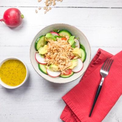 Sauteed Tuna Salad with Lemon Dressing