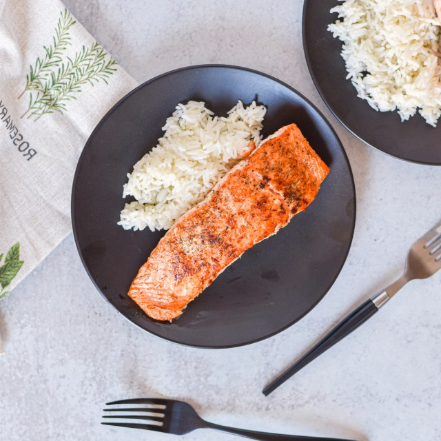Crispy Mustard Dill Salmon