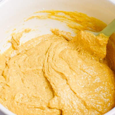 Mix the Pumpkin Spice batter