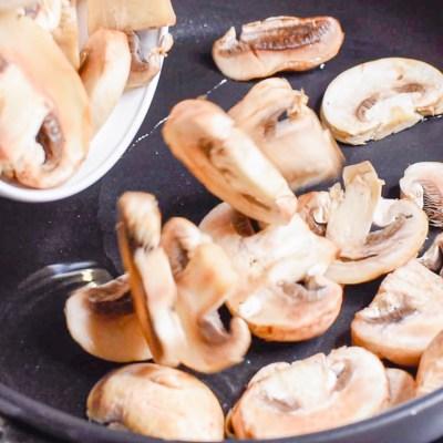 saute mushrooms