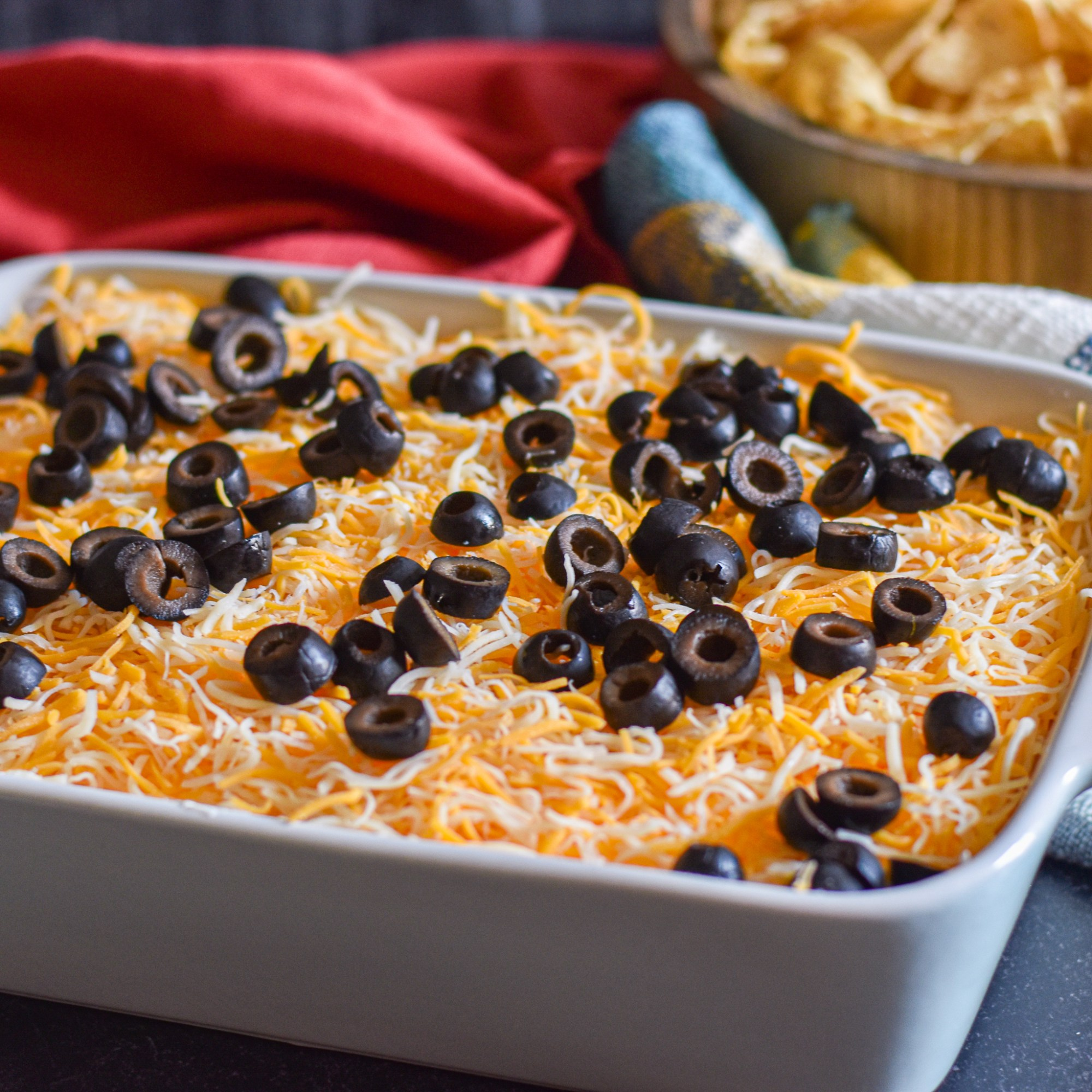 Vegetarian 6-layer Mexican Dip by Candidly Delicious