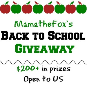 MamatheFox's Back To School Giveaway [Ends 9/1]