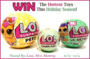L.O.L. Surprise! Pets, Lil Sisters & Charm Fizz Prize Pack Giveaway [Ends 12/4]