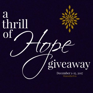 A Thrill of Hope Giveaway Hop ~ $25 Paypal Cash [Ends 12/15]