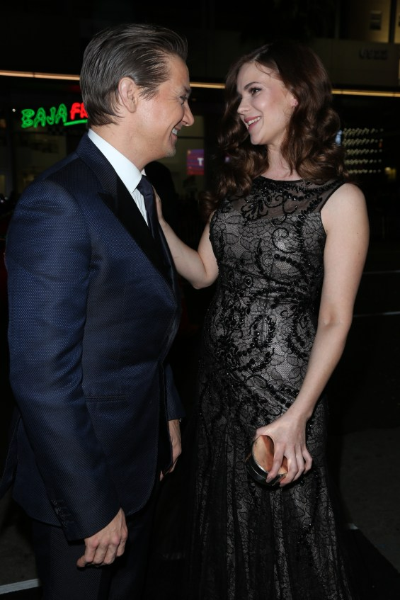 "Jeremy Renner, left and Pihla Viitala arrive the Los Angeles premiere of ""Hansel and Gretel Witch Hunters"" held at Grauman's Chinese Theatre on Thursday, January 24, 2013 in Hollywood, Calif. (Photo by Alex J. Berliner/ABImages)"