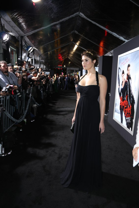 "Gemma Arterton arrives at the Los Angeles premiere of ""Hansel and Gretel Witch Hunters"" held at Grauman's Chinese Theatre on Thursday, January 24, 2013 in Hollywood, Calif. (Photo by Alex J. Berliner/ABImages)"