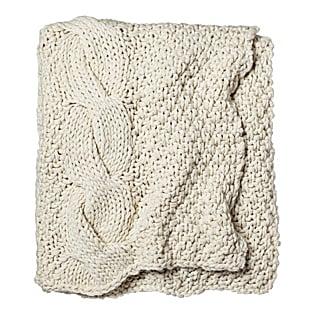 Alicia Adams Chunky Knit Throw – Ivory