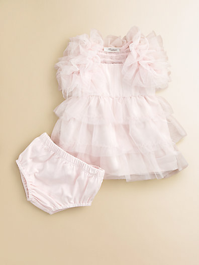Infant's Tiered Tulle Dress, Bolero and Bloomer Set in Light Pink. Saks Fifth Avenue Easter